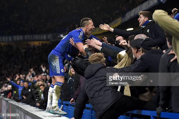 Chelsea's John Terry celebrates scoring his side's third goal