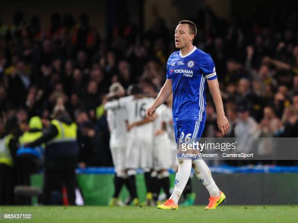 Chelsea's John Terry dejected as Watford's Stefano Okaka Chuka scores his sides third goal during the Premier League match between Chelsea and...