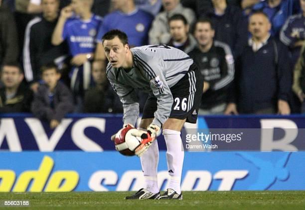 Chelsea's John Terry deputises in goal