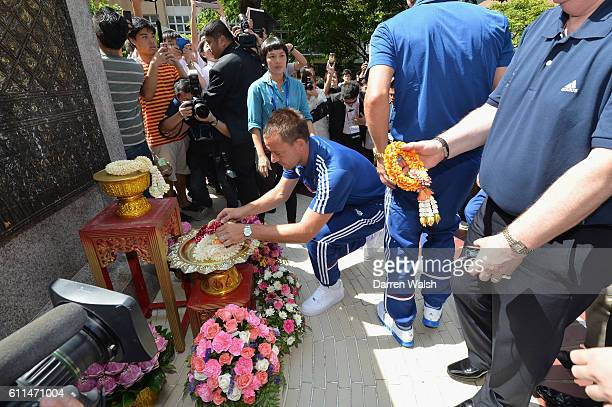 Chelsea's John Terry during a visit to the King of Thailand at the Siriraj Hospital.