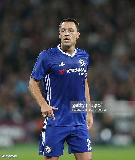 Chelsea's John Terry during the EFL Cup 4th Round match between West Ham United and Chelsea at The London Stadium on October 26 2016 in London England