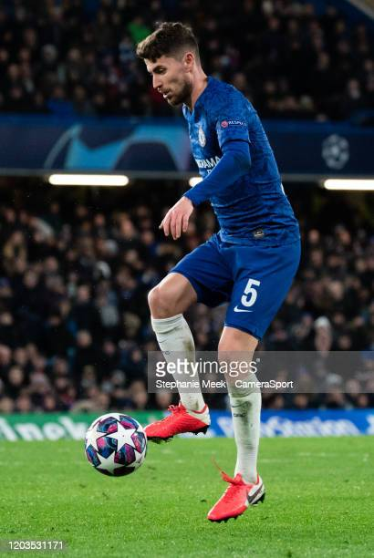 Chelsea's Jorginho during the UEFA Champions League round of 16 first leg match between Chelsea FC and FC Bayern Muenchen at Stamford Bridge on...