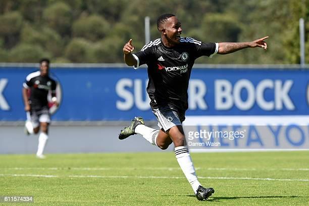 Chelsea's Josimar Quintero celebrates scoring their second goal of the game