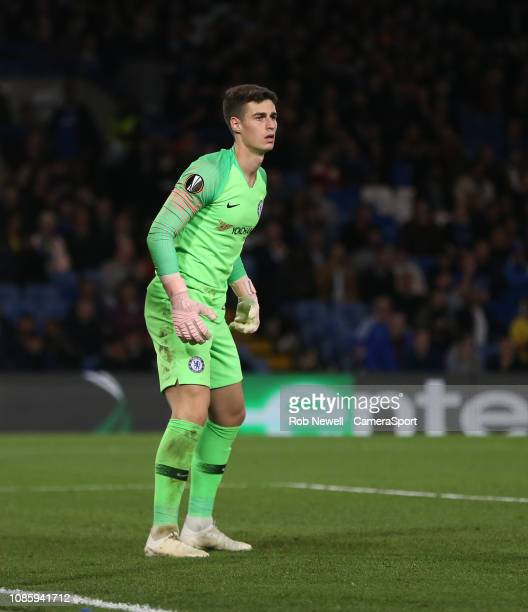 Chelsea's Kepa Arrizabalaga during the UEFA Europa League Group L match between Chelsea and Vidi FC at Stamford Bridge on October 4 2018 in London...