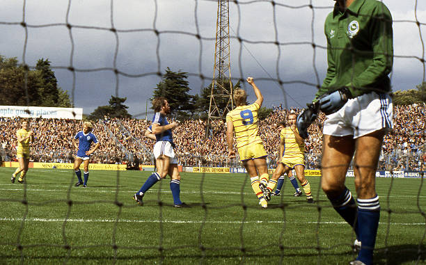 Chelsea's Kerry Dixon scores with a penalty