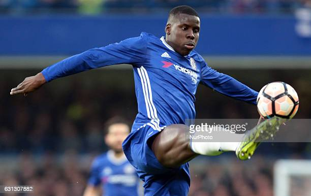 Chelsea's Kurt Zouma during The Emirates F A Cup Third Round match between Chelsea against Peterborough United at Stamford Bridge London Britain 08...