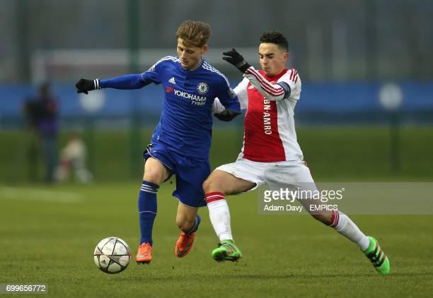 Chelsea's Kyle Scott and Ajax's Abdelhak Nouri battle for the ball