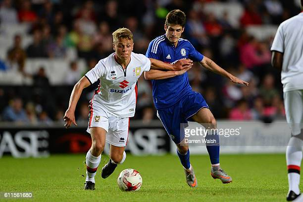 Chelsea's Lucas Piazon during a Pre Season Friendly between MK Dons and Chelsea XI at MK Dons Stadium on 3rd August 2015 in Milton Keynes England