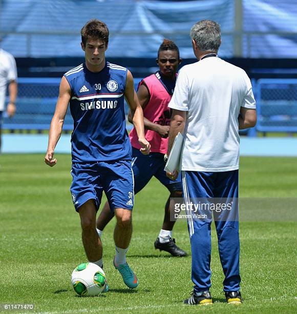 Chelsea's Lucas Piazon during a training session at the International School of Bangkok on July 13th 2013 in Bangkok Thailand