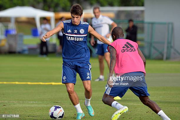 Chelsea's Lucas Piazon during a training session at the International School of Bangkok on July 14th 2013 in Bangkok Thailand
