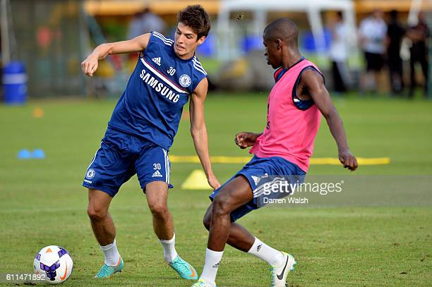 Chelsea's Lucas Piazon Ramires during a training session at the International School of Bangkok on July 14th 2013 in Bangkok Thailand
