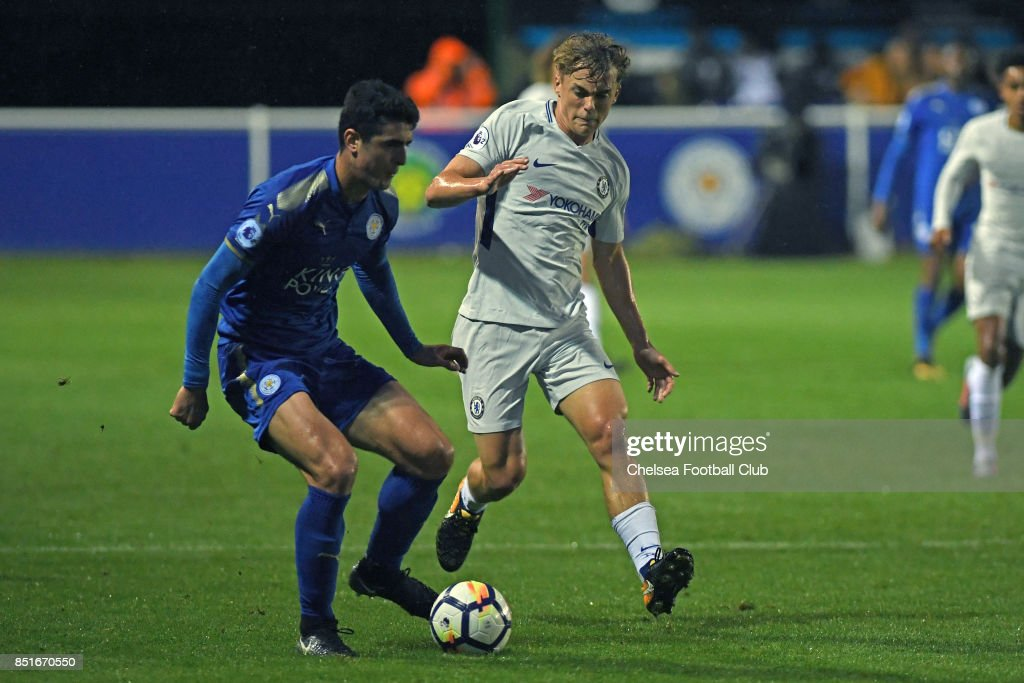 Chelsea's Luke McCormick during the Premier League 2 match between Leicester City and Chelsea on September 22, 2017 in Leicester, England.