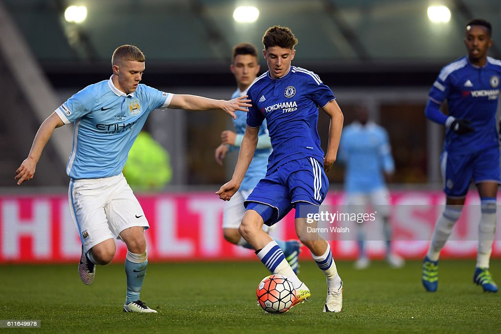 Chelsea's Mason Mount and Manchester City's Jacob ...