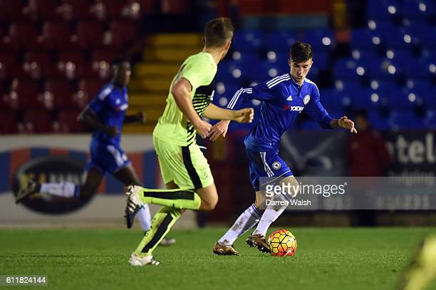 Chelsea's Mason Mount during a 3rd Rd FA Youth Cup match between Chelsea U18 and Huddersfield Town U18 at The EBB Stadium on 16th December 2015 in...