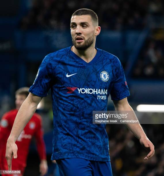Chelsea's Mateo Kovacic during the UEFA Champions League round of 16 first leg match between Chelsea FC and FC Bayern Muenchen at Stamford Bridge on...