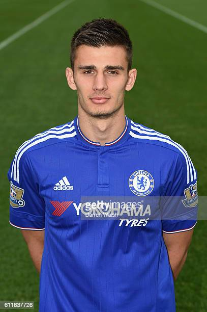 Chelsea's Matt Miazga during a photocall at the Cobham Training Ground on 1st February 2016 in Cobham England