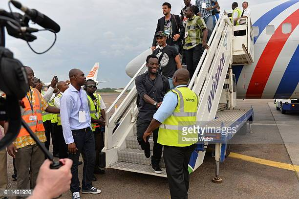 Chelsea's Michael Essien arriving at Accra International Airport for the Africa 11 v World 11 Essien's Game of Hope Inspiration on 7th June 2013 in...