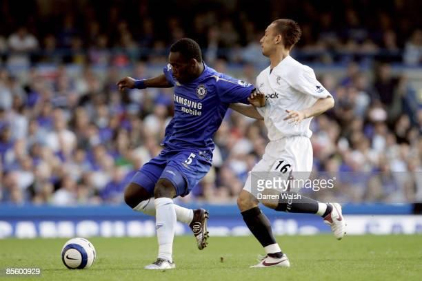 Chelsea's Michael Essien's and Bolton Wanderers' Hidetoshi Nakata