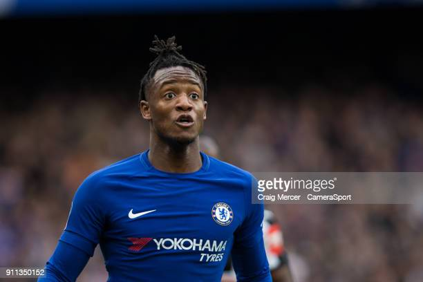 Chelsea's Michy Batshuayi during The Emirates FA Cup Fourth Round match between Chelsea and Newcastle United at Stamford Bridge on January 28 2018 in...