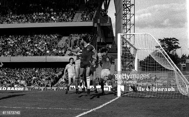 Chelsea's Micky Droy attacks the Bristol Rovers goal