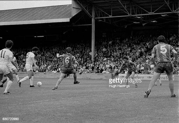 Chelsea's Micky Droy in action during the Football League Division Two match between Shrewsbury Town and Chelsea at Meadow Lane on August 23rd 1980...