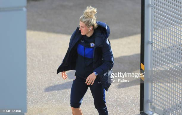 Chelsea's Millie Bright arrives prior to the the Barclays FA Women's Super League match between Manchester City and Chelsea at The Academy Stadium on...