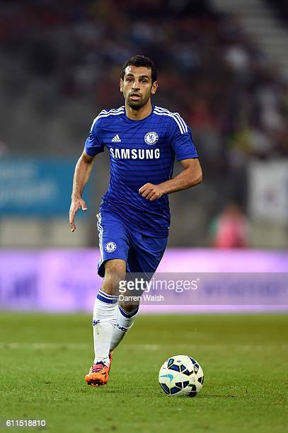Chelsea's Mohamed Salah during a pre season friendly match between RZ Pellets WAC and Chelsea FC at the Worthersee Stadium on the 23rd July 2014 in...