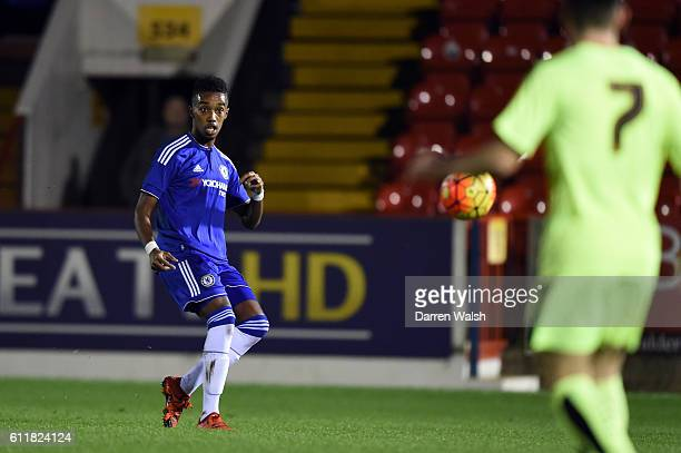 Chelsea's Mukhtar Ali during a 3rd Rd FA Youth Cup match between Chelsea U18 and Huddersfield Town U18 at The EBB Stadium on 16th December 2015 in...