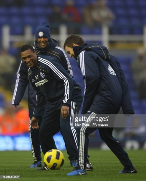 Chelsea's new assistant first team coach Michael Emenalo during the prematch warm up