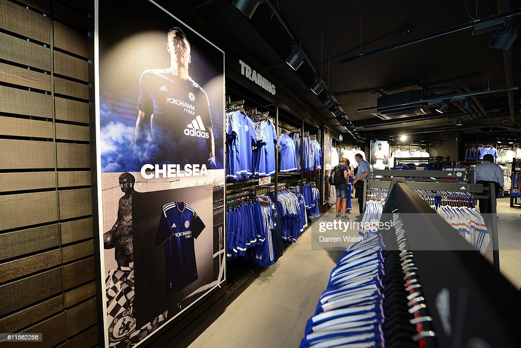 Chelsea's new designed Megastore at Stamford Bridge on 1st August