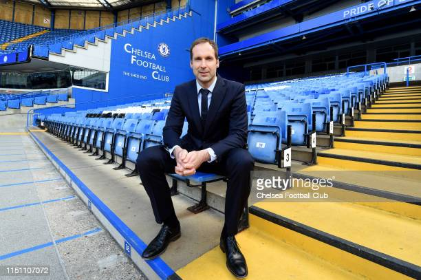 Chelsea's newly signed Technical and Performance Advisor Petr Cech poses for a photo at Stamford Bridge on June 20, 2019 in London, England.