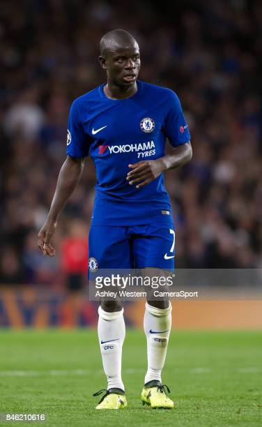 Chelsea's Ngolo Kante during the UEFA Champions League group C match between Chelsea FC and Qarabag FK at Stamford Bridge on September 12 2017 in...