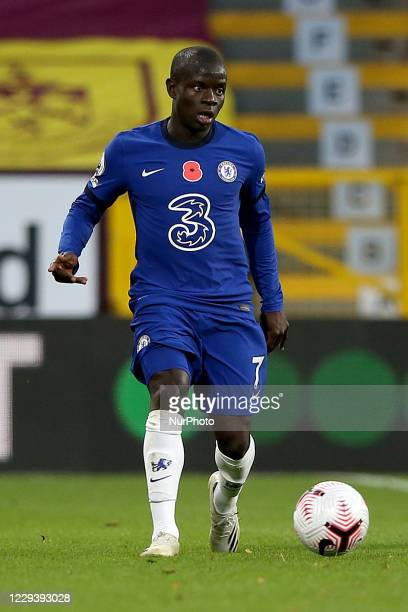 Chelsea's N'Golo Kante in action during the Premier League match between Burnley and Chelsea at Turf Moor Burnley on Saturday 31st October 2020