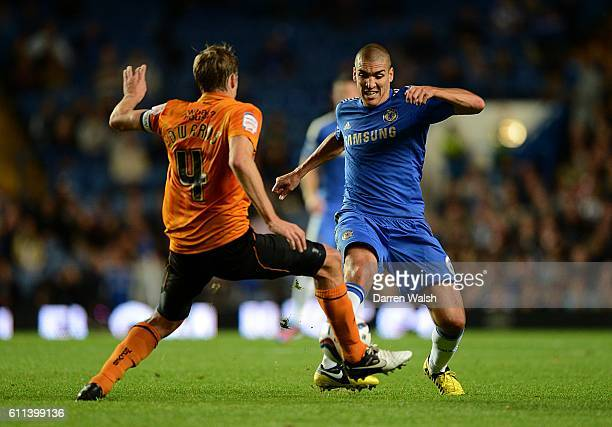 Chelsea's Oriol Romeu and Wolverhampton Wanderers' David Edwards battle for the ball