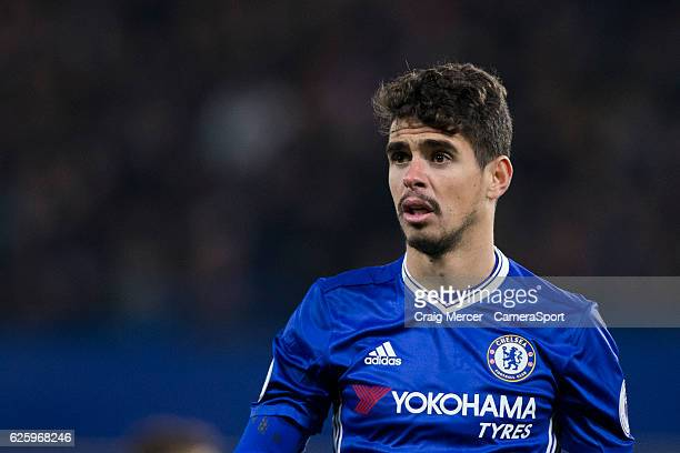 Chelsea's Oscar during the Premier League match between Chelsea and Tottenham Hotspur at Stamford Bridge on November 26 2016 in London England