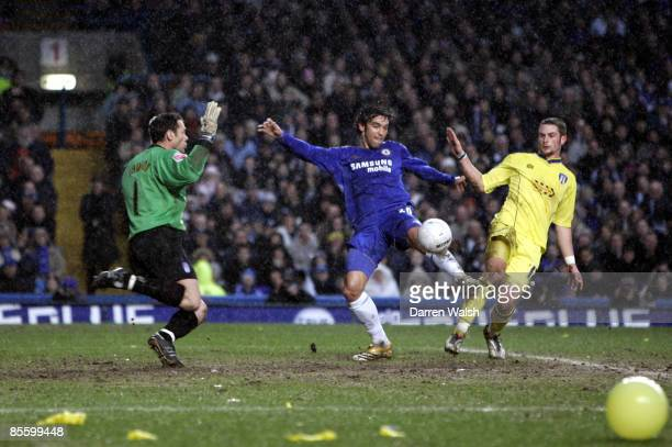 Chelsea's Paulo Ferreira scores the equalising goal against Colchester United