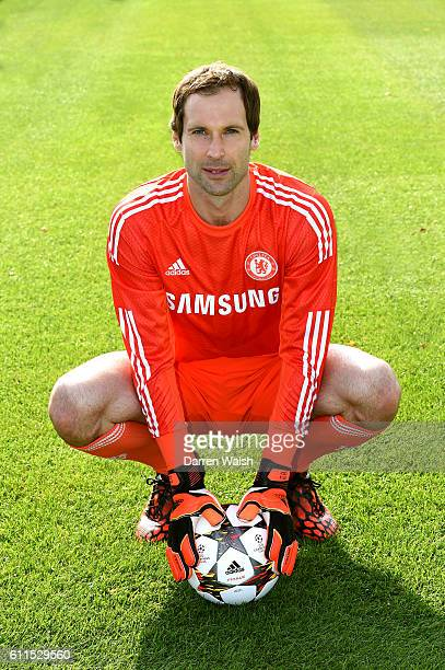 Chelsea's Petr Cech during the 1st team photocall at the Cobham Training Ground on 14th September 2014 in Cobham England