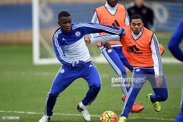 Chelsea's Ramires Jay Dasilva during a training session at the Cobham Training Ground on 30th December 2015 in Cobham England