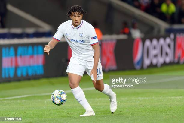 Chelsea's Reece James during the UEFA Champions League group H match between Lille OSC and Chelsea FC at Stade Pierre Mauroy on October 02 2019 in...