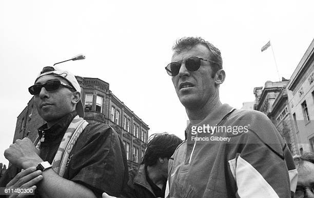Chelsea's Roberto Di Matteo and coach Graham Rix during the FA Cup parade