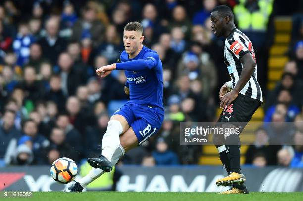 Chelsea's Ross Barkley in action during the FA Cup 4th Round match between Chelsea and Newcastle United at Stamford Bridge London England on 28 Jan...