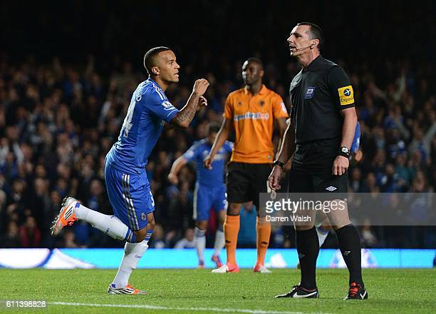 Chelsea's Ryan Bertrand celebrates scoring his side's second goal