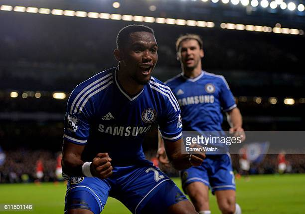 Chelsea's Samuel Eto'o celebrates after scoring his team's second goal