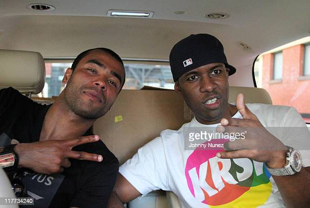 Chelsea's soccer player Ashley Cole and DJ Whoo Kid seen on the streets of Manhattan on June 30 2011 in New York City