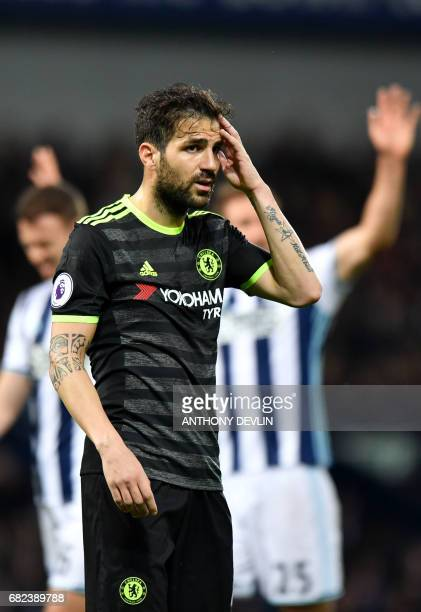 Chelsea's Spanish midfielder Cesc Fabregas looks on during the English Premier League match between West Bromwich Albion and Chelsea at The Hawthorns...