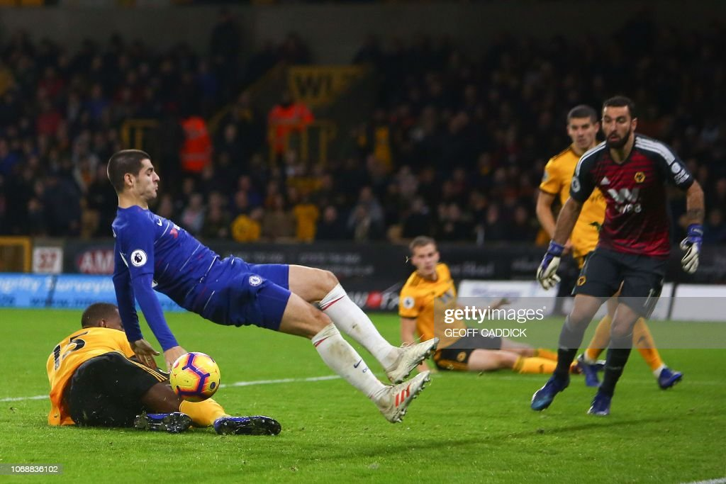 FBL-ENG-PR-WOLVES-CHELSEA : News Photo