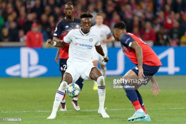 Chelsea's Tammy Abraham during the UEFA Champions League group H match between Lille OSC and Chelsea FC at Stade Pierre Mauroy on October 02 2019 in...