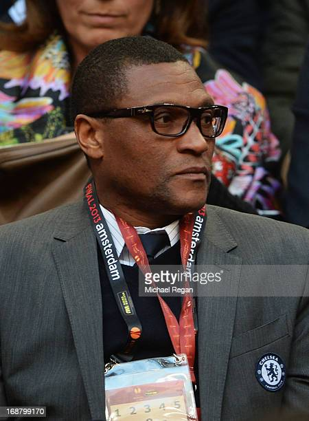 Chelsea's Techincal DIrector Michael Emenalo looks on during the UEFA Europa League Final between SL Benfica and Chelsea FC at Amsterdam Arena on May...