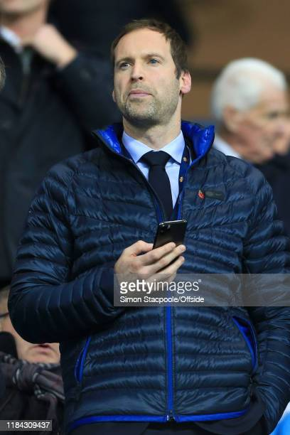 Chelsea's Technical Performance Advisor Petr Cech looks on from the stands during the Premier League match between Manchester City and Chelsea FC at...