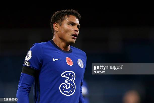 Chelsea's Thiago Silva during the Premier League match between Burnley and Chelsea at Turf Moor Burnley on Saturday 31st October 2020